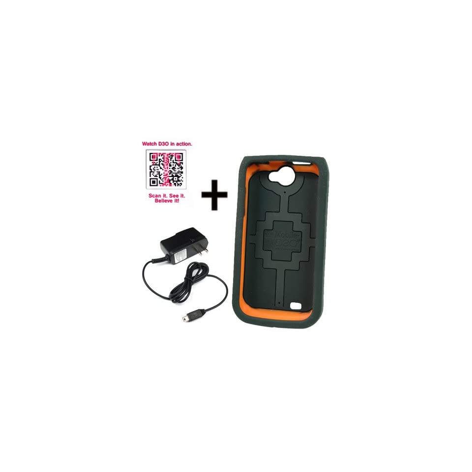 T Mobile OEM Sleeve Gel Cover Skin Case for T Mobile Samsung Exhibit II 4G T679 + Travel Charger Black
