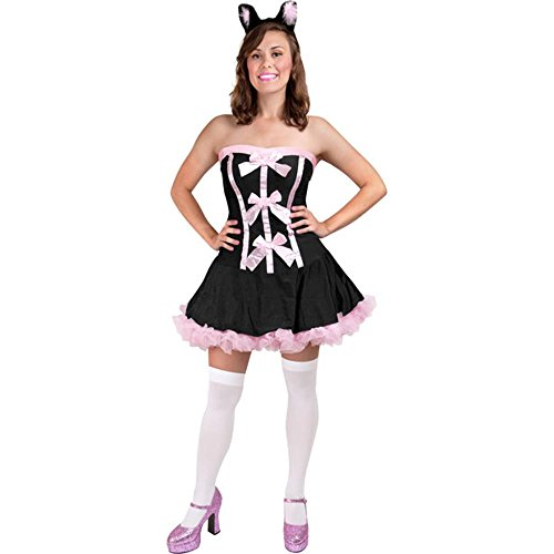 Sexy Black Kitty Adult Costume (Size: Medium 8-12)