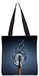 Snoogg Matched Out Poly Canvas Tote Bag