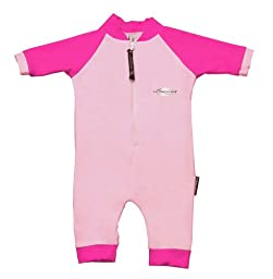Stingray Australia Baby UV Sun Protection Romper Bathing Suit- Pink size 0