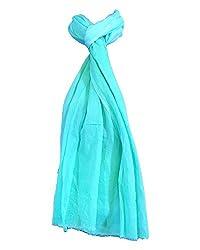 Shiborika Women's Stole (SS-TB-12, Turquoise)