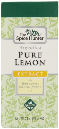 The Spice Hunter Pure Lemon Flavoring Extract, 2-Ounce Bottles (Pack of 6)