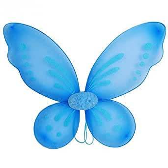 Ixiang New Halloween Butterfly Fairy Wings Tinkerbell Pixie Costume