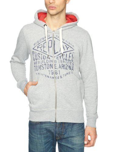 Replay M3055 Men's Sweatshirt Light Grey Melange Small