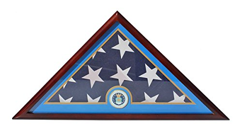 DisplayGifts Air Force Flag Display Case Box, For Burial Funeral Memorial FC89 (Flag Display Case Air Force compare prices)