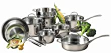 Calphalon LS13 Tri-Ply Stainless-Steel 13-Piece Cookware Set