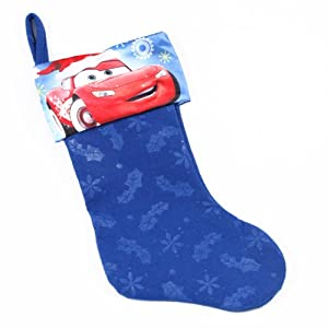 "Licensed Disney 18"" Holiday Kids Stockings (Cars - Blue)"