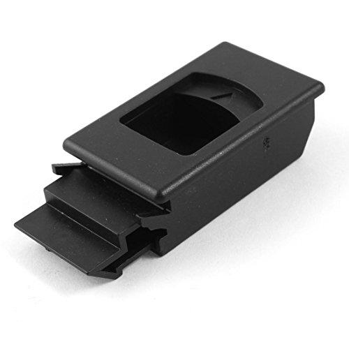 Plastic Inside Pull Button Latch Black For Cabinet Wardrobe