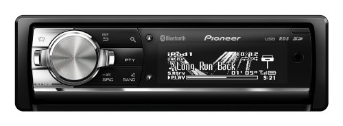 Pioneer CD Tuner with iPod/iPhone Control, Bluetooth, 2x Rear USB, SD Card Slot and 3 Hi-Volt RCA Pre-outs