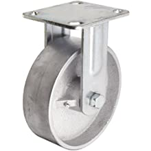 RWM Casters 46 Series Plate Caster, Rigid, Cast Iron Wheel