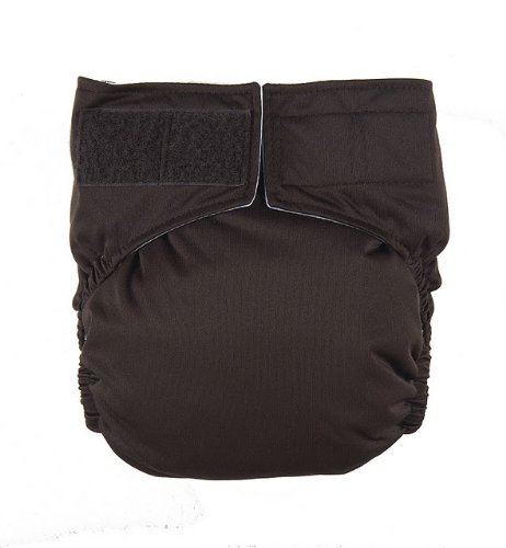 Dark Chocolate Velcro Easy Clean One Size Pocket Cloth Diaper By Mommy'S Touch