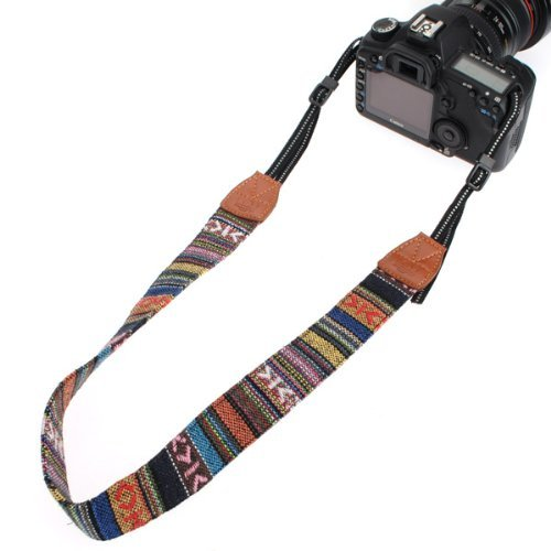 Vintage Soft Multi-Color Universal Camcorder Camera Shoulder Strap Universal Camcorder Belt for DSLR Nikon Canon Sony Olympus Samsung