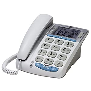 GE 29369GE1 Big Button Corded Desktop Phone with Call Waiting Caller ID and Speakerphone