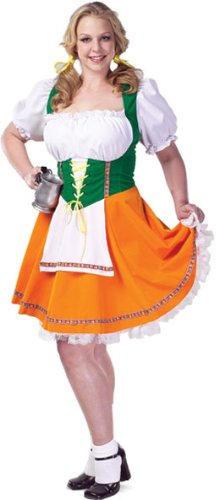 Plus Size Sexy Beer Garden Costume (Size: 26-28)