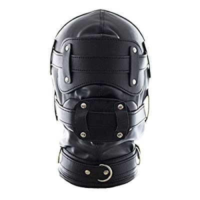 YiFeng Leather Costume Gimp Mask Hood 6