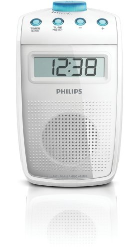 Philips-AE2330-Tragbares-Duschradio-UKW-MW-Tuner-LC-Display-wei