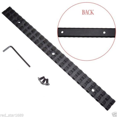 Nuoya001 Super 257X20Mm Long Picatinny Rail Weaver Fit Rifle Diy Scope (Include A Cycling Reflective Band As Gift)
