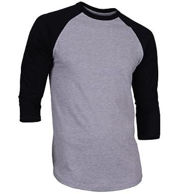 Buy Mens Casual 3 4 Sleeve Baseball Tshirt Raglan Jersey Shirt by GR Apparel