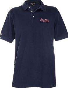 Atlanta Braves Pique Xtra Lite Polo Shirt (Team Color) by Antigua
