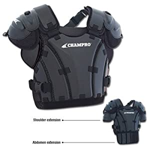 Champro Pro Plus Umpire Chest Protector (Black, X-Large)