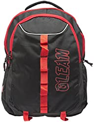 GLEAM Poylester 30 Litres Black School Backpack Bag