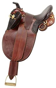 AOC Stock Poley Wide Tree Saddle w. Horn 17in