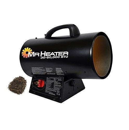 MH60QFAV Mr. Heater Propane Forced Air Heater, Portable, 60,000 BTU (Complete Set) w/ Bonus: Premium Microfiber Cleaner Bundle (60 000 Btu Propane Heater compare prices)