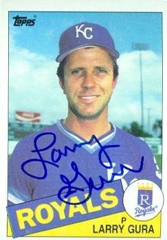 Larry Gura autographed Baseball Card (Kansas City Royals) 1985 Topps #595