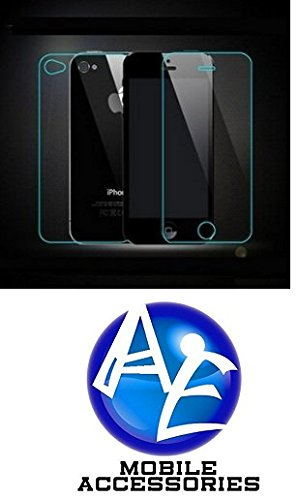 AE Tempered Glass Screen Scratch Protector Guard for Apple Iphone 4/4S Front and Back