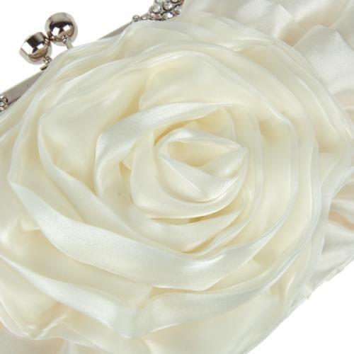 Gleader Rhinestone Fleur Sac a Main de Mariage Soiree Parti Embrayage