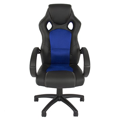 best choice products executive racing office chair pu