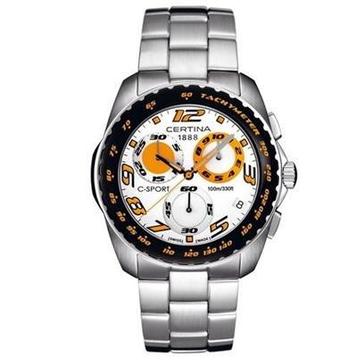 Certina C-Sport Men's Chronograph Steel Bracelet Sapphire Crystal Glass Watch C53671984292 / 536.7198.42.92