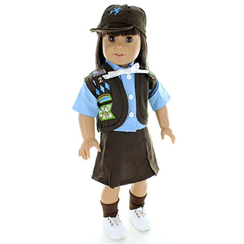 Doll Clothes - Brownies Girl Scout Uniform Outfit Fits American Girl Doll, My Life Doll, Our Generation and other 18 inch Dolls