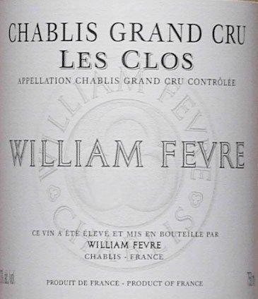 2011 William Fevre Chablis Les Clos Grand Cru 750 Ml