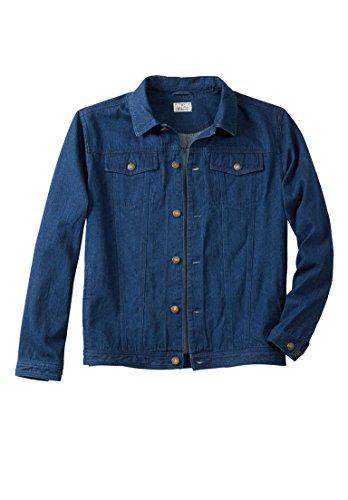 Liberty Blues Men's Big & Tall Denim Jacket, Indigo Tall-2Xl Big Tall Denim Jackets