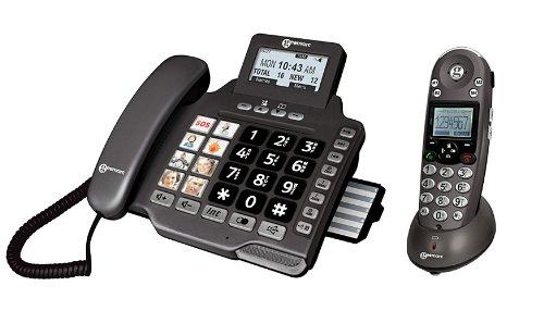 Geemarc Geemarc AMPLIDECT-COMBI355 Kombitelefon (Fototasten, Bildtasten, Notfalltasten, Anrufbeantworter)