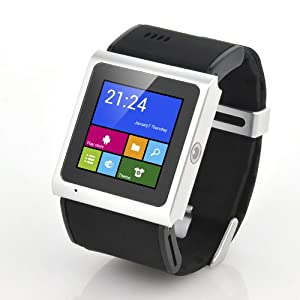 """3G Dual Core Android Smart Watch """"Tigon"""" - 1.54 Inch TFT Touch Screen, MTK6577 1GHz CPU, 3 Megapixel Camera (Black) from NONE"""