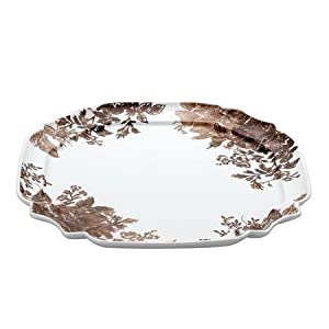 "Paula Deen Signature Dinnerware Tatnall Street 13.25"" Ornate Serving Platter, Coffee Bean"