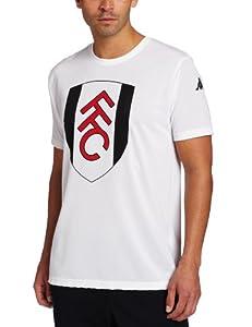 Kappa Men's Fulham Polyester T-Shirt, White, Large