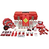 "Accuform Signs KSK700 STOPOUT 208-Piece Ultimate Lockout Kit, 19"" Length x 9-1/2"" Width x 9-1/2"" Height, Red/Black"