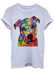 Dog Animal Doggie Cute Painting Art White Men Women Unisex Top T-Shirt