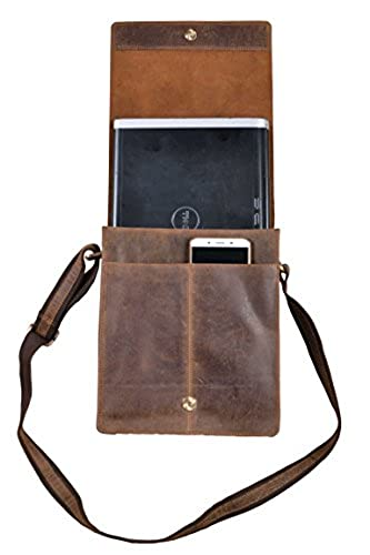 13. Handolederco Leather Messenger Satchel Laptop Bag for Men's and Women's Leather Satchel Laptop Messenger Unisex Ipad Mini Laptop Bag