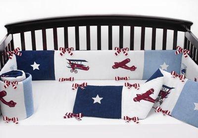 Sweet Jojo Designs Vintage Aviator Baby Bedding Baby