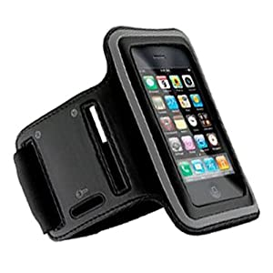Asleek Gym Running Sport Armband Case for iPhone 3G/3GS/4/4S - Black