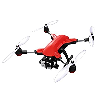 Quadcopter with HD Camera and GPS by Muzeli Foldable Aerial Quadcopter Drone 5 Modes support Gopro with Gift Case