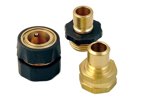 Universal Pressure Washer Brass Garden Hose Quick Connect Kit