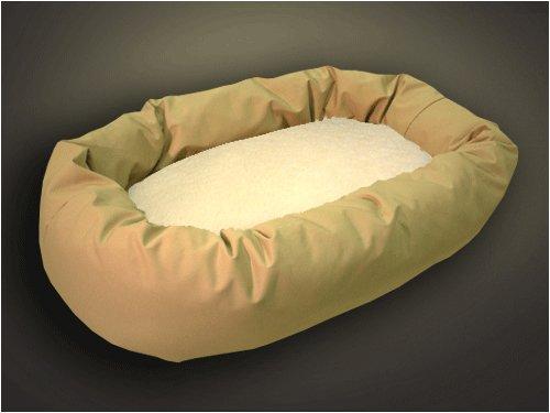 Khaki Sherpa 32 Bagel Bed Medium