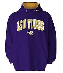 NCAA Men\'s LSU Tigers Hooded Sweatshirt (Purple, Small)