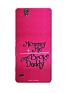 Sowing Happiness Printed Back Cover For Sony Xperia C4 Dual