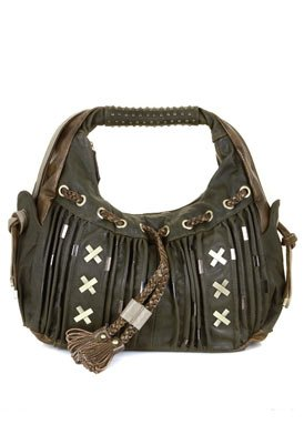 Green Faux Leather Shoulder Bag: Green Shoulder Bag